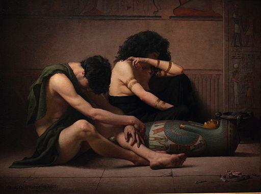 遭受灭长子的第十次灾殃的埃及人的悔恨