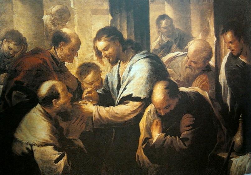 门徒们的圣餐式 – 卢卡·焦尔达诺 作
