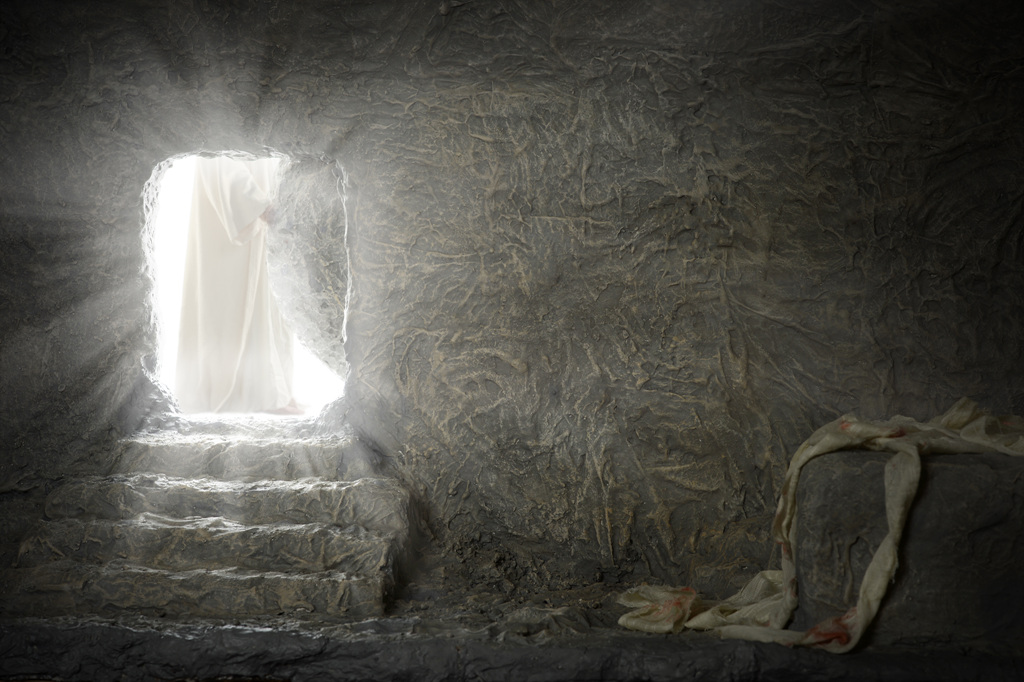 战胜死亡的势力给予复活希望的耶稣