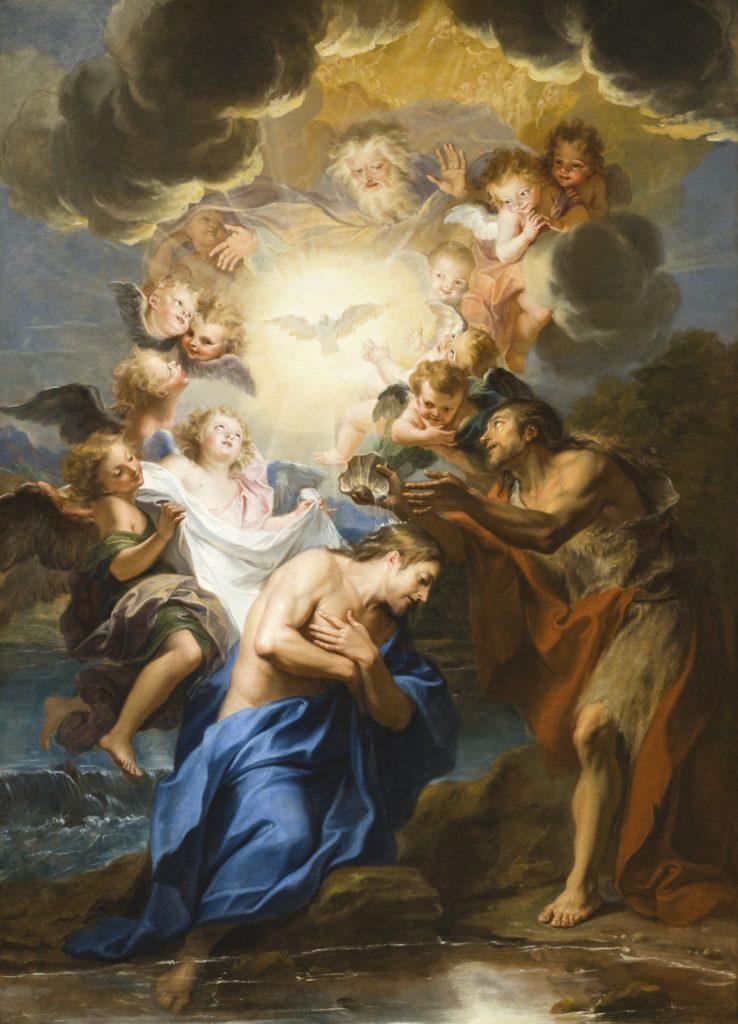 基督受洗礼- AntoineCoypel之作